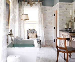 bath, bathroom, and chair image