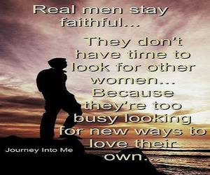 real men, too busy, and faithful image