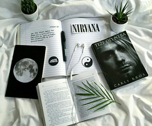 nirvana, book, and grunge image