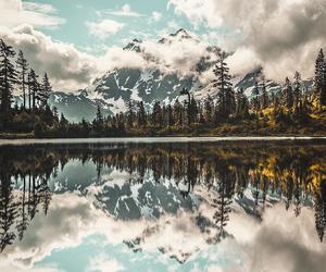 nature, lake, and mountain image