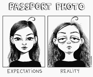 reality, funny, and passport image