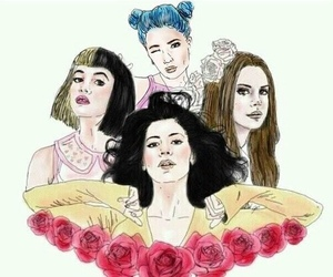 halsey, melanie martinez, and marina and the diamonds image