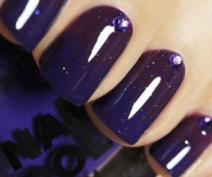 nails, purple, and nail art image
