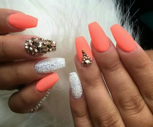 nails, orange, and white image