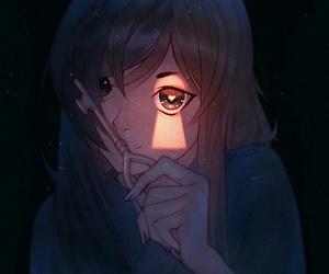 anime, girl, and key image