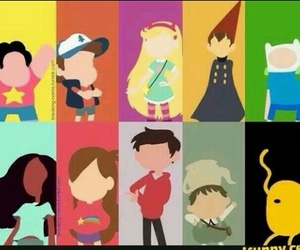 adventure time, gravity falls, and steven universe image