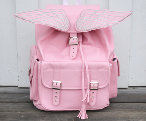 pink, bag, and wings image