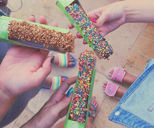 candy, churros, and colorful image