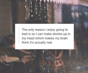 quote, bed, and sleep image