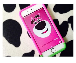 bear, iphone, and pink image
