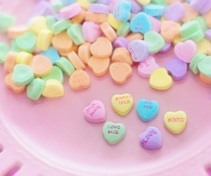 colorful, hearts, and sweets image