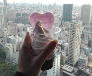 heart, icecream, and pink image