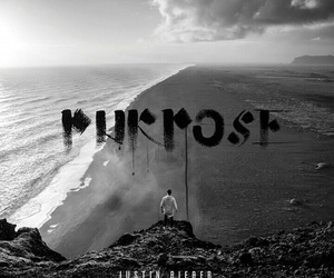 justin bieber, purpose, and black and white image