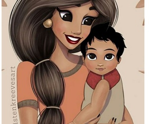 princess, baby, and disney image