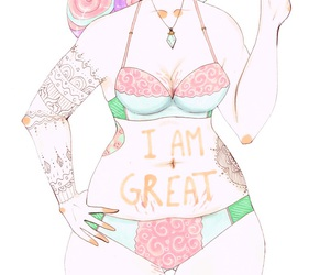 body positive, self love, and plus size image