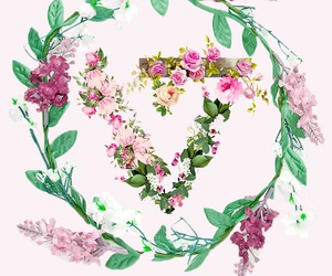 floral, kpop, and Logo image