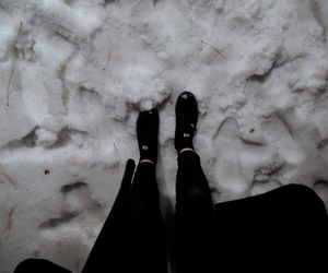 grunge, snow, and black image
