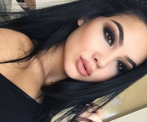 eyes, lips, and pretty image