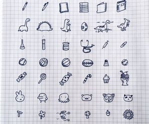 doodle, school, and ideas image