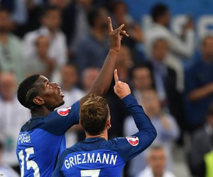 pogba, france, and griezmann image