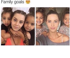 family, pretty, and love image