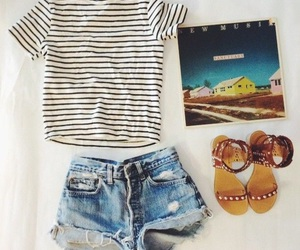 fashion, sandals, and shorts image