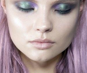 model, Magdalena Frackowiak, and makeup image