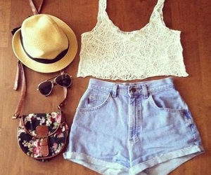 fashion, floral, and hat image