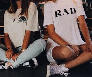 girl, rad, and style image