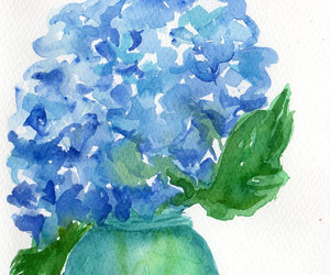 blue, etsy, and floral image