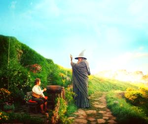 gandalf, the hobbit, and bilbo image