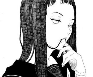 black and white, manga, and monochrome image