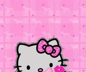 glitter, hello kitty, and pink image