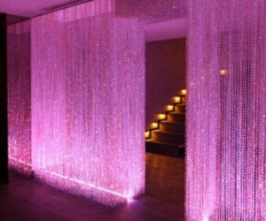 pink, lights, and party image