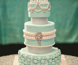cake, blue, and pastel image