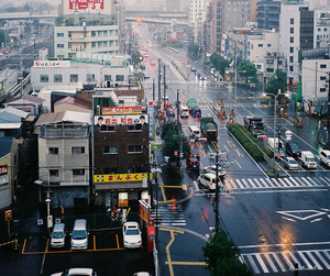 city, japan, and vintage image