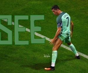 cristiano ronaldo, easel, and football image