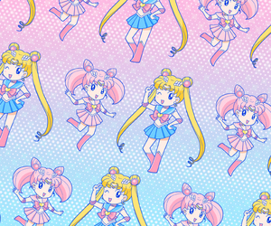 pattern, anime, and chibi image