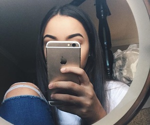 eyebrows, iphone, and mirror image