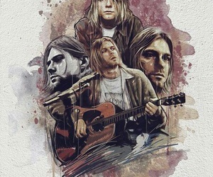 nirvana, kurt cobain, and art image