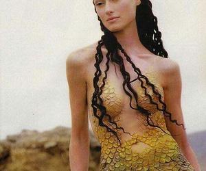 curly, mermaid, and princess image