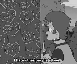 love, hate, and simpsons image