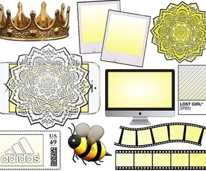 yellow and overlays image
