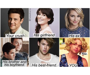 crush, glee, and finnhudson image