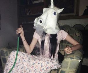 unicorn, smoke, and grunge image
