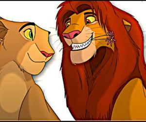 disney, the lion king, and simba and nala image