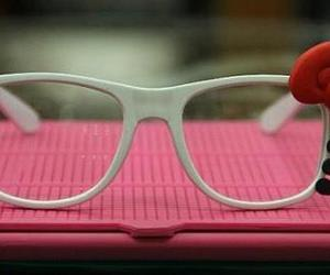 hello kitty, glasses, and cute image