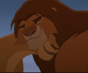 disney, the lion king, and simba and kiara image