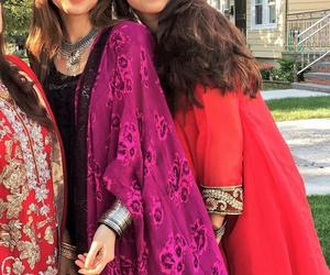 girls, muslim, and sisters image