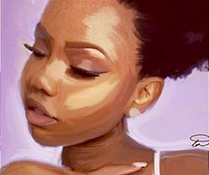 art, african american woman, and artwork image